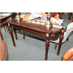 "Bombay Co. Ltd flat to the wall console table 55"" in length and matching coffee table"