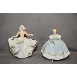 Two Royal Doulton figurines including Sweet Seventeen HN2734 and First Dance HN2803