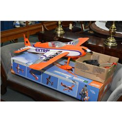 Parkzone Extra 300 foam electrically powered model airplane with controller, batteries and charger