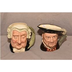 Two Royal Doulton character jugs including Henry VIII D6642 and The Lawyer D6504