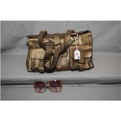 "Vintage designer Mulberry ""Roxanne"" bag and a pair of Victor Gros designer sunglasses"