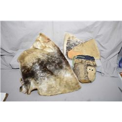 Selection of seal skin including hide, a pouch and a pair of gloves