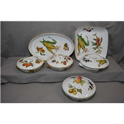 Selection of Royal Worcester Evesham including four lidded casserole dishes, plus an oval and square