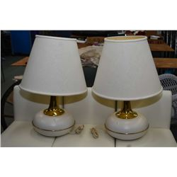 Pair of mid century table lamps made by F. Fabbian, Italy