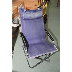 Japanese made Uchida, Z chair with chrome metal frame and open arms
