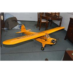Large scale flying model wood and fabric Piper Cub model airplanes, appears to have never been flown