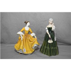 Two Royal Doulton figurines including Stephanie HN2807 and Gillian HN3042
