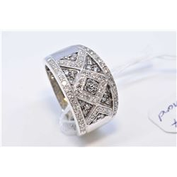 Lady's 10kt white gold and pave diamond ring