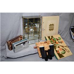 Selection of vintage collectibles including a Maco shortwave radio, a pair of Carl Wetzler 7X50 bino