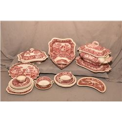 """Selection of Copeland Spode """"Spode's Tower"""" including large lidded tureen with tray, lidded vegetabl"""