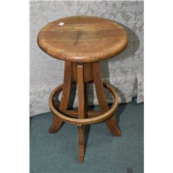 Antique oak swivel clerk's stool