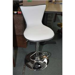 Pair of chrome based hydraulic retro style bar stools