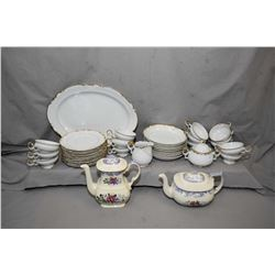 "Selection of Mikasa ""Venice"" china tableware including ten side plates, nine soup bowls, four tea cu"