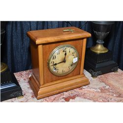 American made chiming mantle clock, working at time of cataloguing