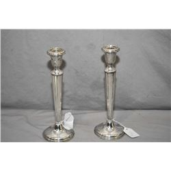 "Pair of Birks sterling silver 10"" candlesticks"