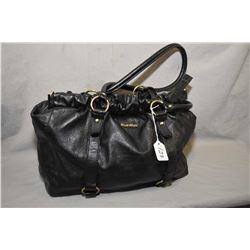 Vintage black leather Miu Miu handbag