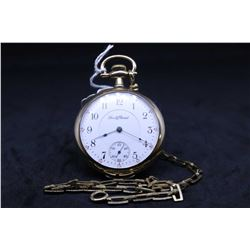 "South Bend size ""16"", 15 jewel grade 207 model 2 pocket watch. Serial #616654, dates to 1910. Engrav"
