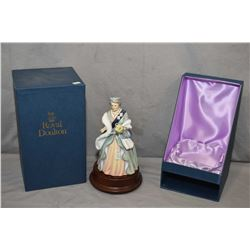 "Limited edition Royal Doulton figurine ""Queen Elizabeth-The Queen Mother"" commemorating her 90th bir"