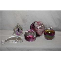 Selection of art glass paperweights including Caithness, Hudelund, plus artist pieces and an artist