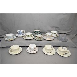 Twelve tea cups and saucers including Queen Anne, Royal Albert, Royal Kendal, Northumbria etc.