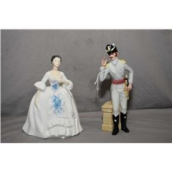 Two Royal Doulton figurines including Kelly HN2478 and Morning Ma' am HN2895