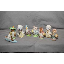 Eight Beswick figurines from the Beatrix Potter Collection including Benjamin Bunny, The Old Woman w