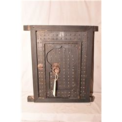 "Moroccan studded house window with original hardware, circa 1900, 23"" x 20"""