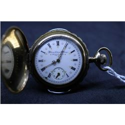 "Elgin size ""6"" , 15 jewel, model 2, grade 134 pocket watch, serial # 6177660, dates to 1896. 3/4 nic"