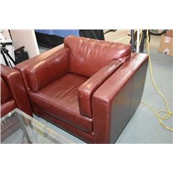 Ox blood leather chair