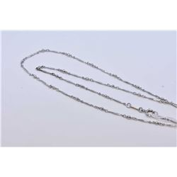 "Lady's tested 10kt white gold 20"" necklace"