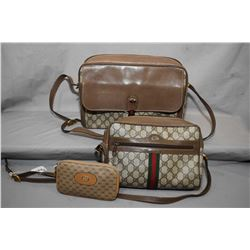 Pair of vintage Gucci bags and a small Gucci zippered purse