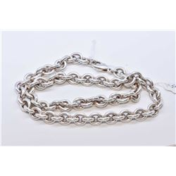 "Heavy sterling silver chain 16"" in length"