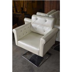 Professional adjustable button tufted hair salon chair