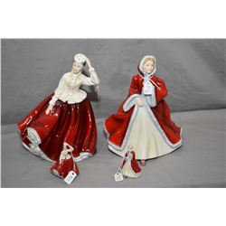 Four Royal Doulton figurines including Gail HN2937 signed by Michael Doulton, Rachel HN2936 and mini