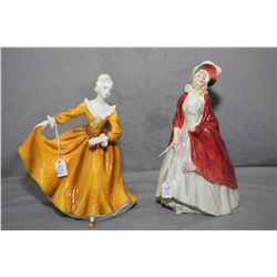 Two Royal Doulton figurines including Kirsty HN2381 and Paisley Shawl RN753120