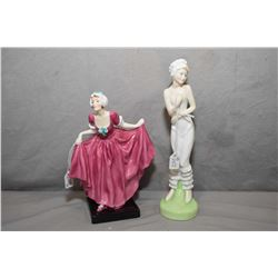 Two Royal Doulton figurines including Modesty HN2744 and Delight HN1772
