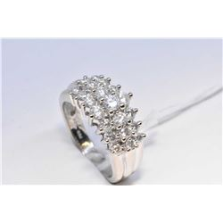 Lady's 10kt white gold and diamond ring, set with 1.00ct of brilliant white diamonds. Retail replace