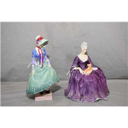 Two Royal Doulton figurines including Pantalettes HN1362 and Charlotte HN2421