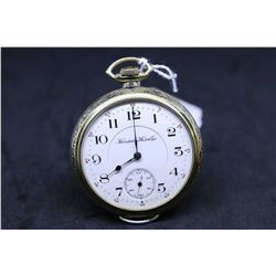 "Hampden size ""16"", 17 jewel, grade 108 adjusted pocket watch, serial # 3025776, dates to 1912. Engra"