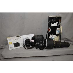 Selection of camera equipment including a high end Nikon Nikkor ED 400mm lens, Nikon TC-300 teleconv