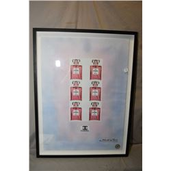 Framed Chanel limited edition print signed Fairchild Paris, 28/100