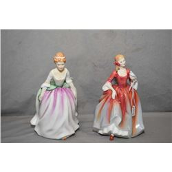 Two Royal Doulton figurines including Alison HN3264 and Nicola HN2804