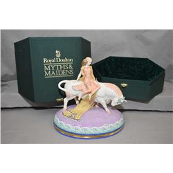 Limited edition Royal Doulton figurine Europa and The Bull from the Myths and Maidens Collection, HN