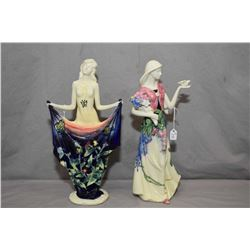 """Two Adeline porcelain figurines, both approximately 11 1/2"""" in height"""
