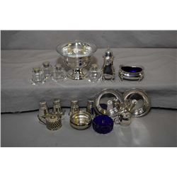 Three pieces of sterling silver including International sterling footed dish with glass liner and tw