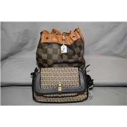 Vintage Fendi purse and Fendi bucket bag, note missing leather string