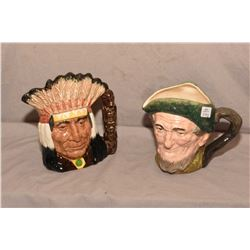 Two Royal Doulton character jugs including Auld Mac D5823 and North American Indian D6611