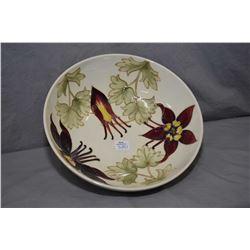 "Moorcroft bowl 10"" in diameter"
