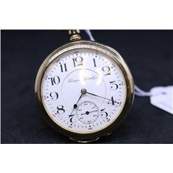 "Hampden size ""16"", 15 jewel, grade 109, model 4 pocket watch. Serial # 2596116, dates to 1909. High"