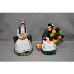 Two Royal Doulton figurines including Old Balloon Seller HN1315 and Rest Awhile HN2728